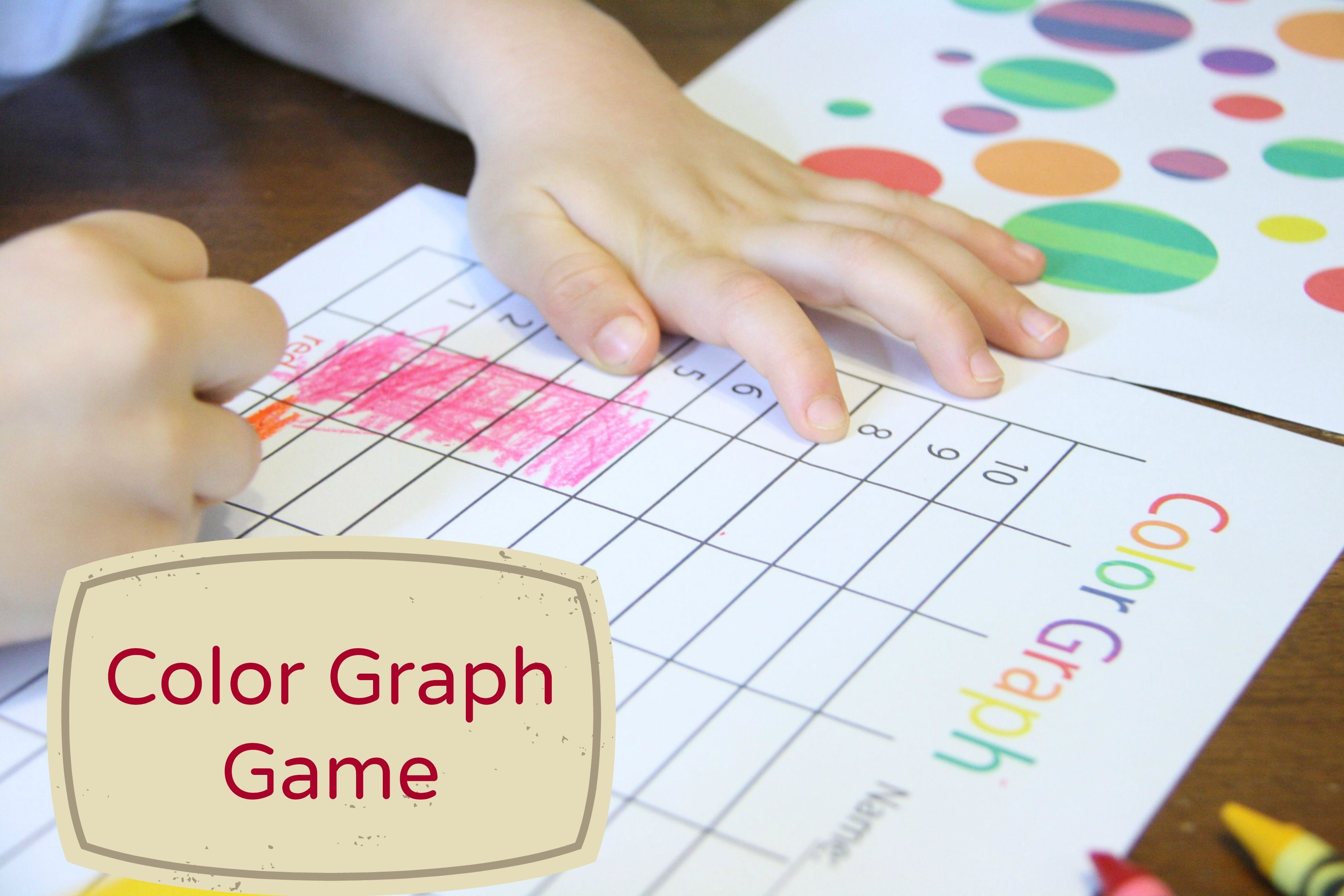 Preschool Color Graph Game With Free Printables