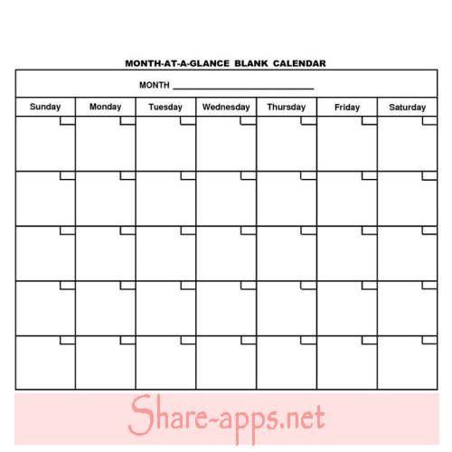 Blank Calendar Calendar Free Template Pinterest Blank Calendar