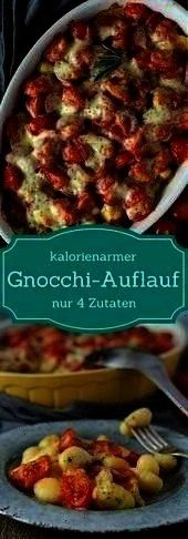 tomato and mozzarella Vegetarian low calorie  Four ingredients Gnocchi casserole with tomato and mozzarella Vegetarian low calorie   To make legit eggplant parm youll nee...