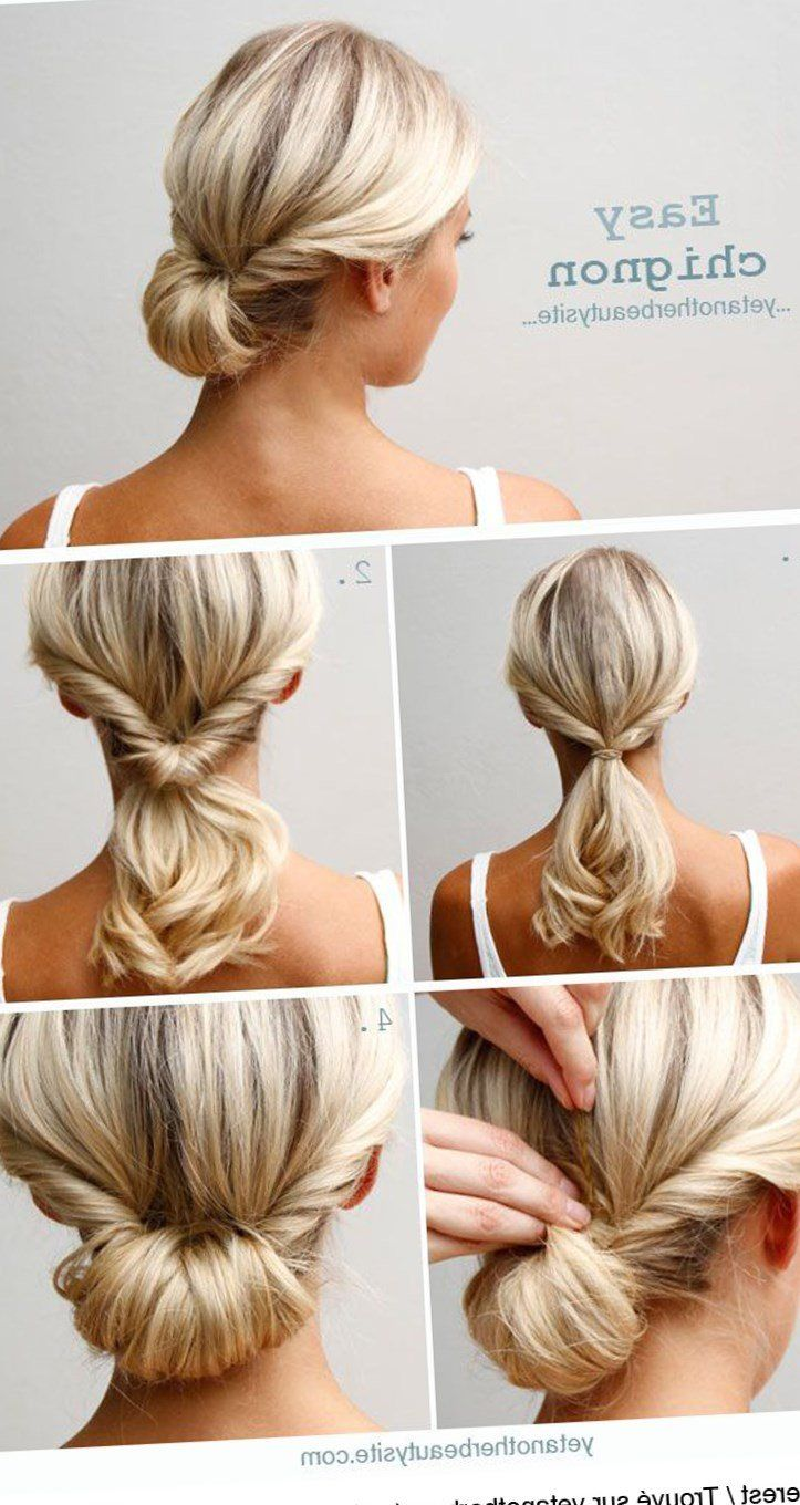 Coiffure Simple A Faire Le Matin Coiffure Cheveux Idee