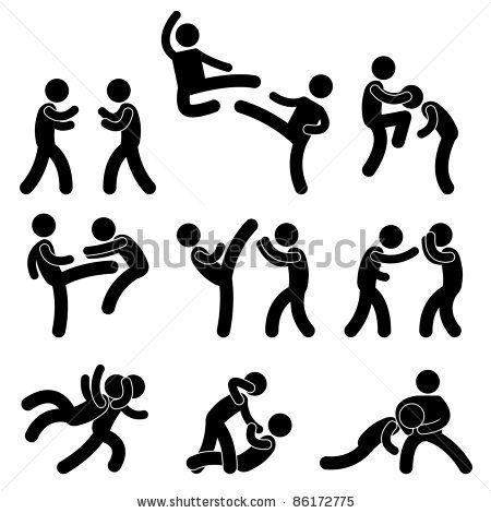 Fight Fighter Muay Thai Boxing Karate Taekwondo Wrestling