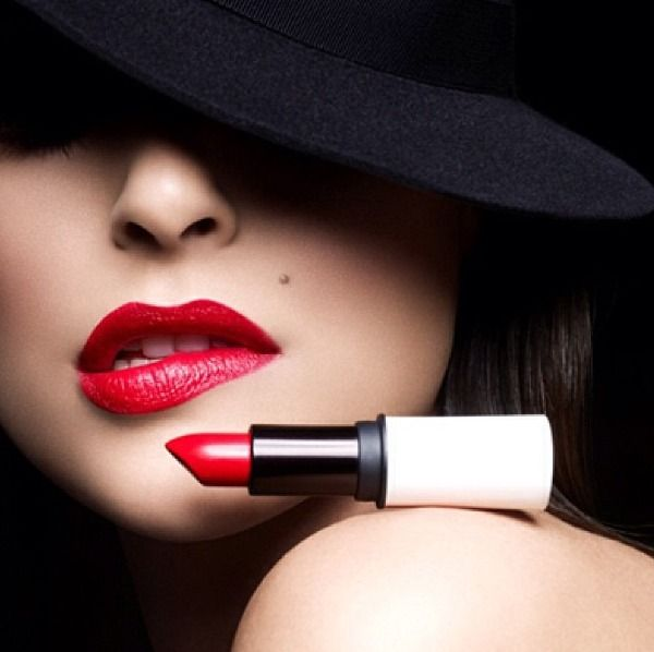 Red Lips Black And White Photography Beauty White Photography