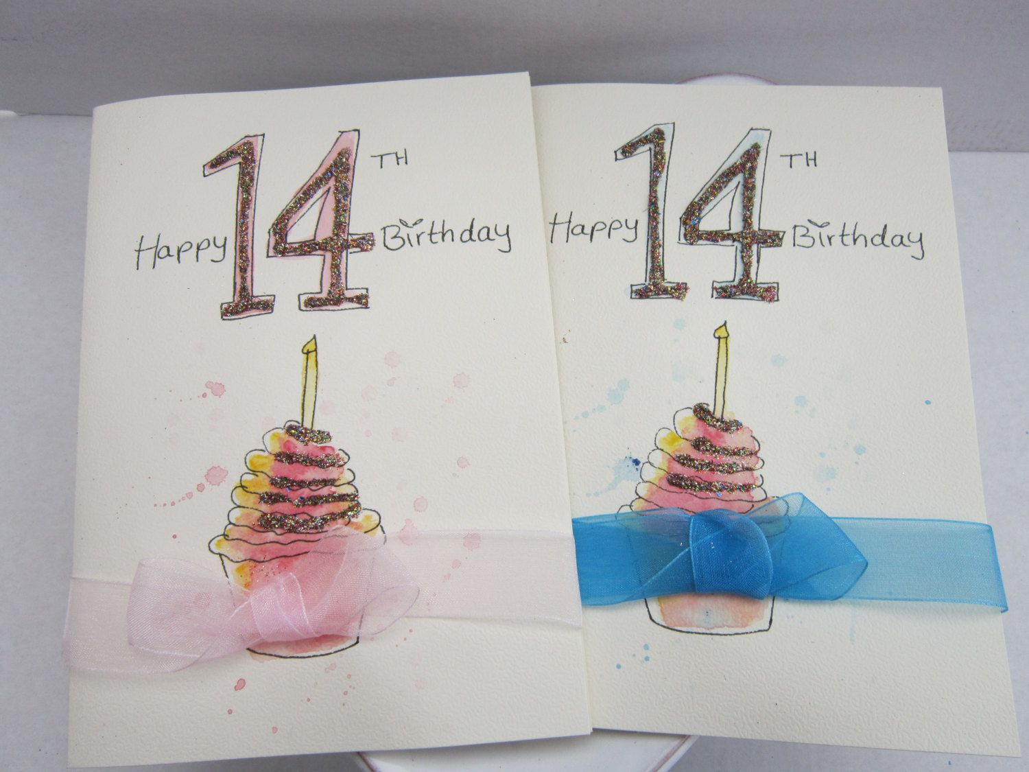 14th Birthday Card Watercolour Card Birthday Cards Personalise