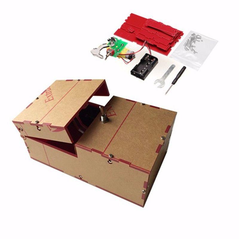 괜한 상자 diy 키트 괜한 기계 생일 선물 장난감 긱 가젯 개그 농담 넓은 게임 까다로운 장난감 재미 사무실 홈 책상 장식