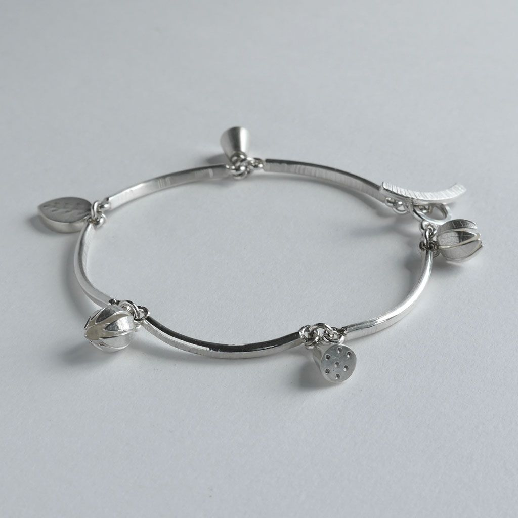fashion pin unique bracelet silver modern contemporary jewelry designer design