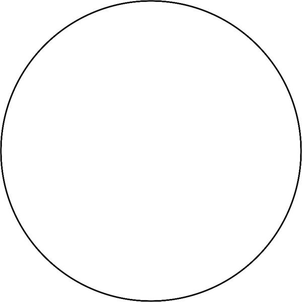 Circle With Thin Outline Liked On Polyvore