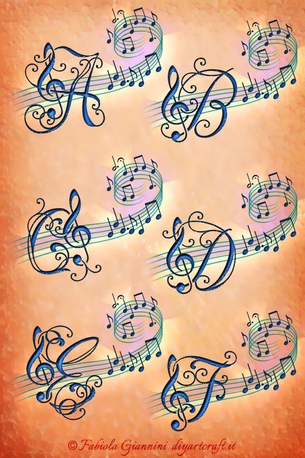 Alfabeto Musicale 26 Lettere Chiave Di Violino Imaginative