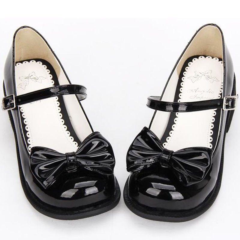 Lolita Japanese Mary Jane Detach Bownot Block Pumps Court Cosplay Princess  Shoes a4a7174b9