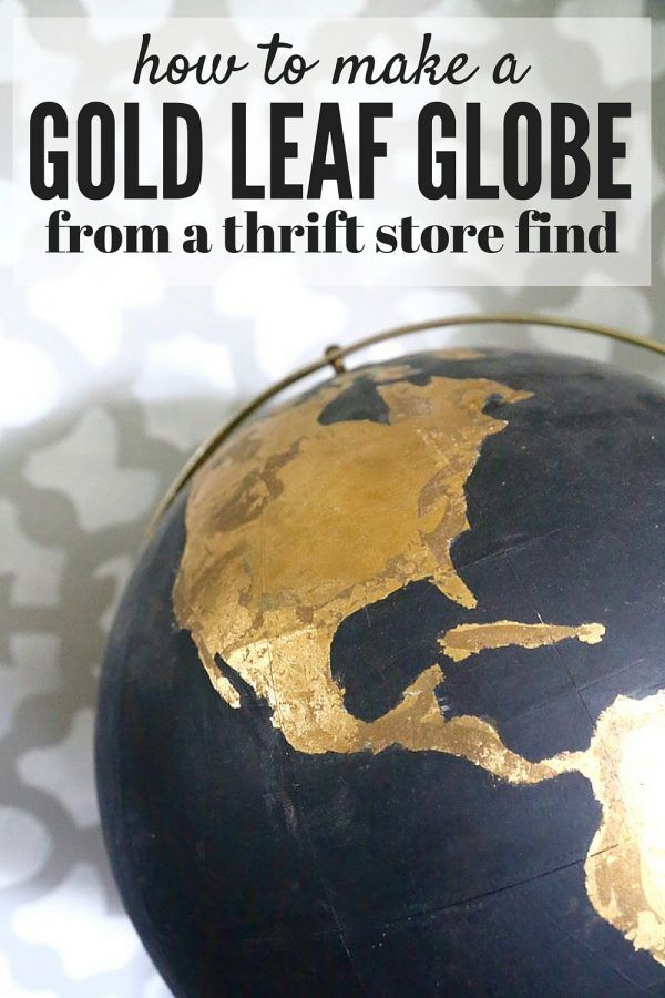 How to take an ugly thrift store globe and turn it into something how to take an ugly thrift store globe and turn it into something amazing this gumiabroncs Choice Image