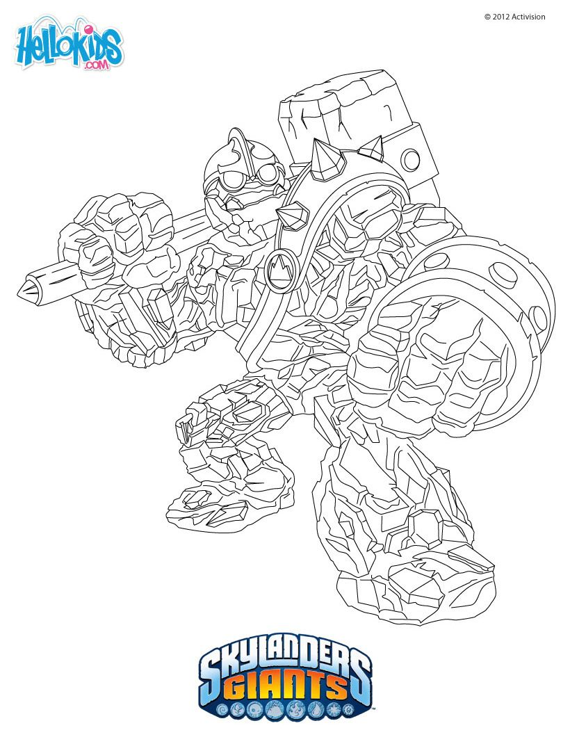 Skylanders Coloring Page Crusher Coloring Pages Skylanders