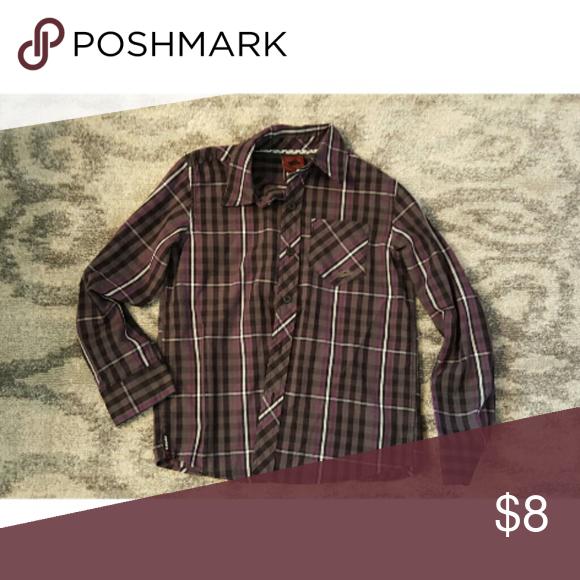 Shirt Wore 2x, purple/grey/blk Hawk Shirts & Tops Button Down Shirts
