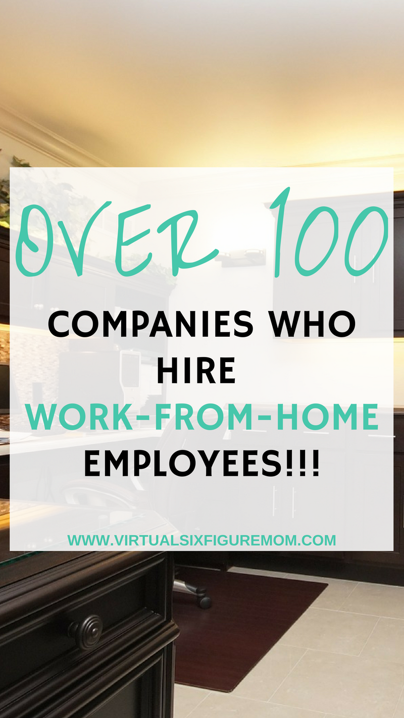 110 Companies with Work-from-Home Jobs - Interested in working from ...