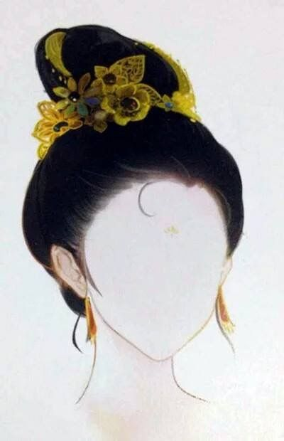 Chinese Hairstyles Anime Drawing Hair Reference Toc Art Dyed Designs Hanfu