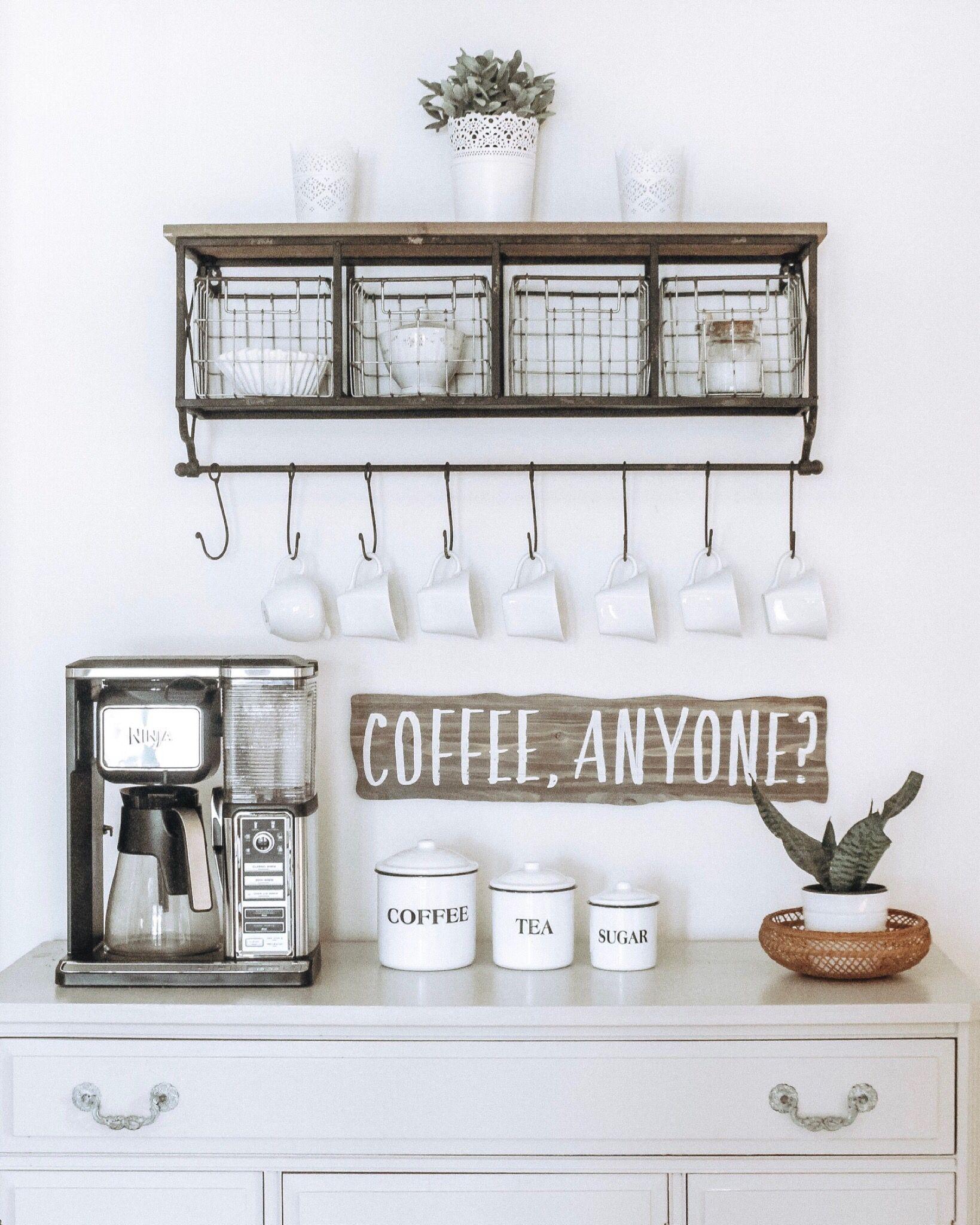 Coffee Bar Farmhouse Coffee Bar Coffee Shops Interior Coffee Station Kitchen
