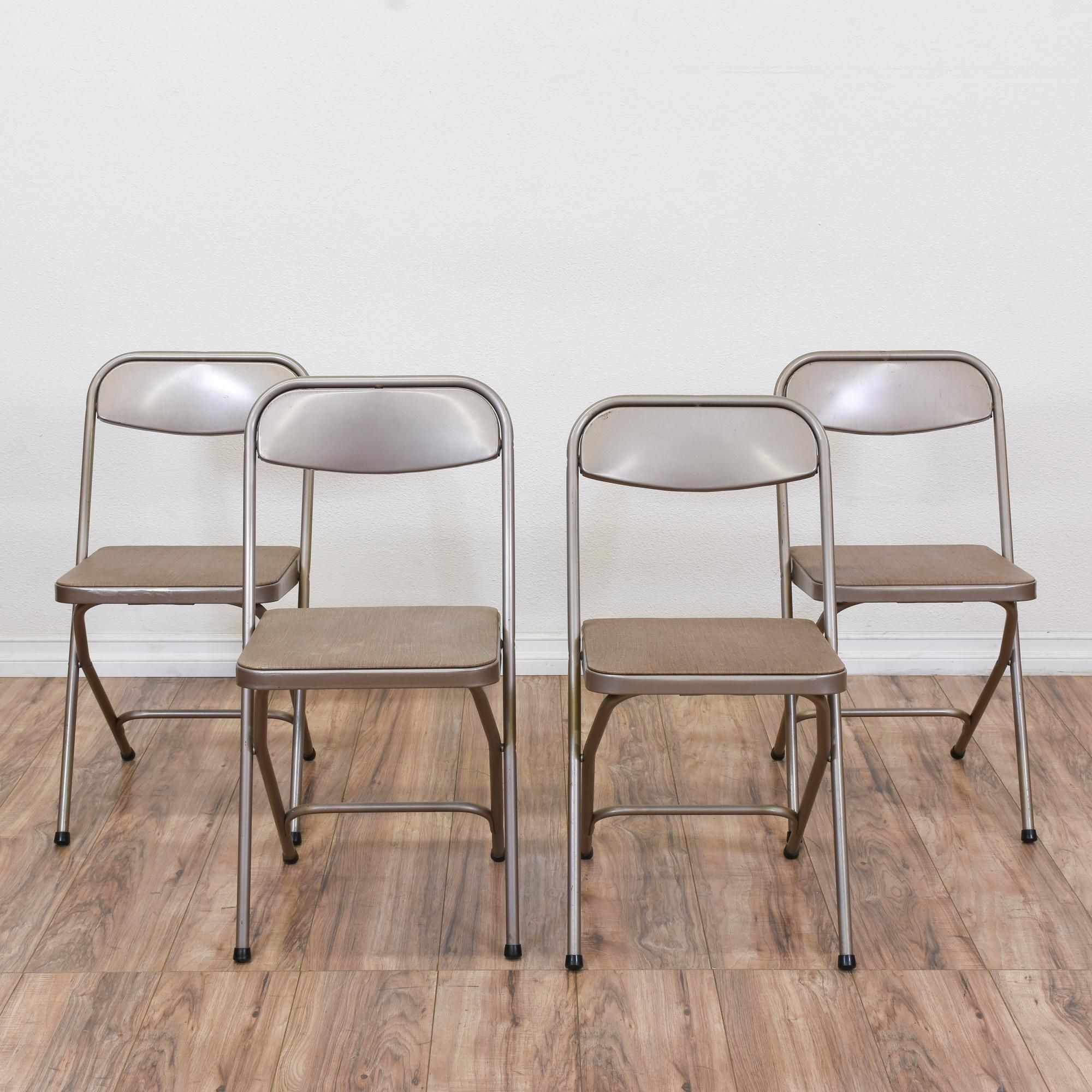"Set 4 ""Samsonite"" Industrial Folding Chairs"