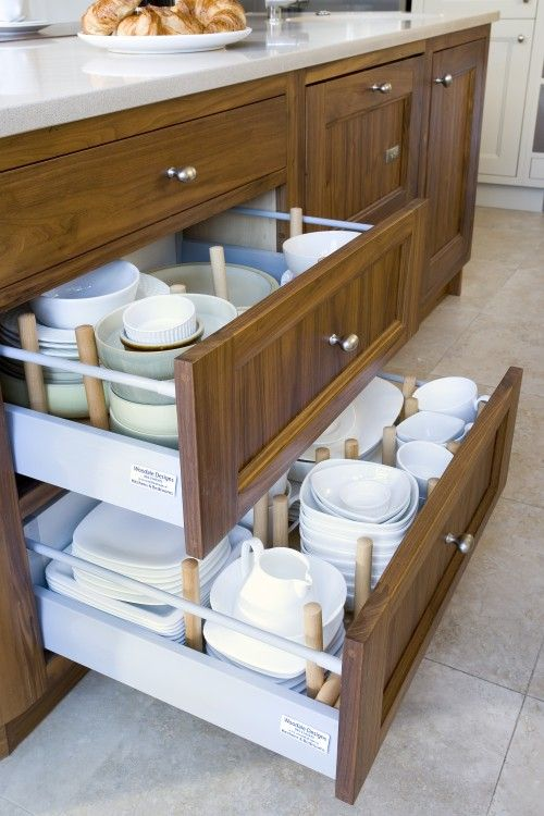 big drawers for pots & serveware
