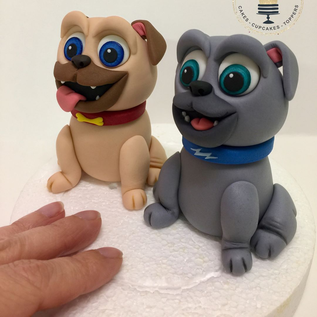 Disney Puppy Dog Pals Bingo Rolly Sugarart Fondant Caketopper