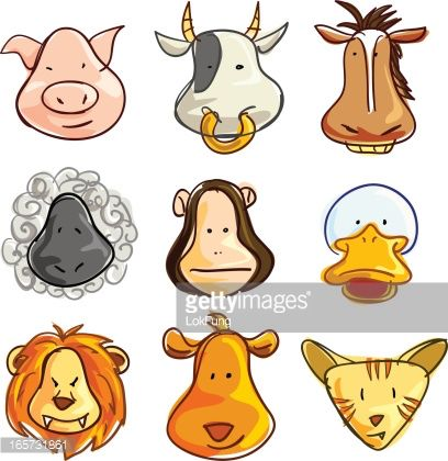Image from http://cache3.asset-cache.net/gc/165731861-cartoon-animal-head-collection-gettyimages.jpg?v=1&c=IWSAsset&k=2&d=1ROn92DK5lXD1LvcsvCv%2Bc5pXV1pvzah4cyews2t6VobiZWfMABw1WeQ4GIkyjUd.