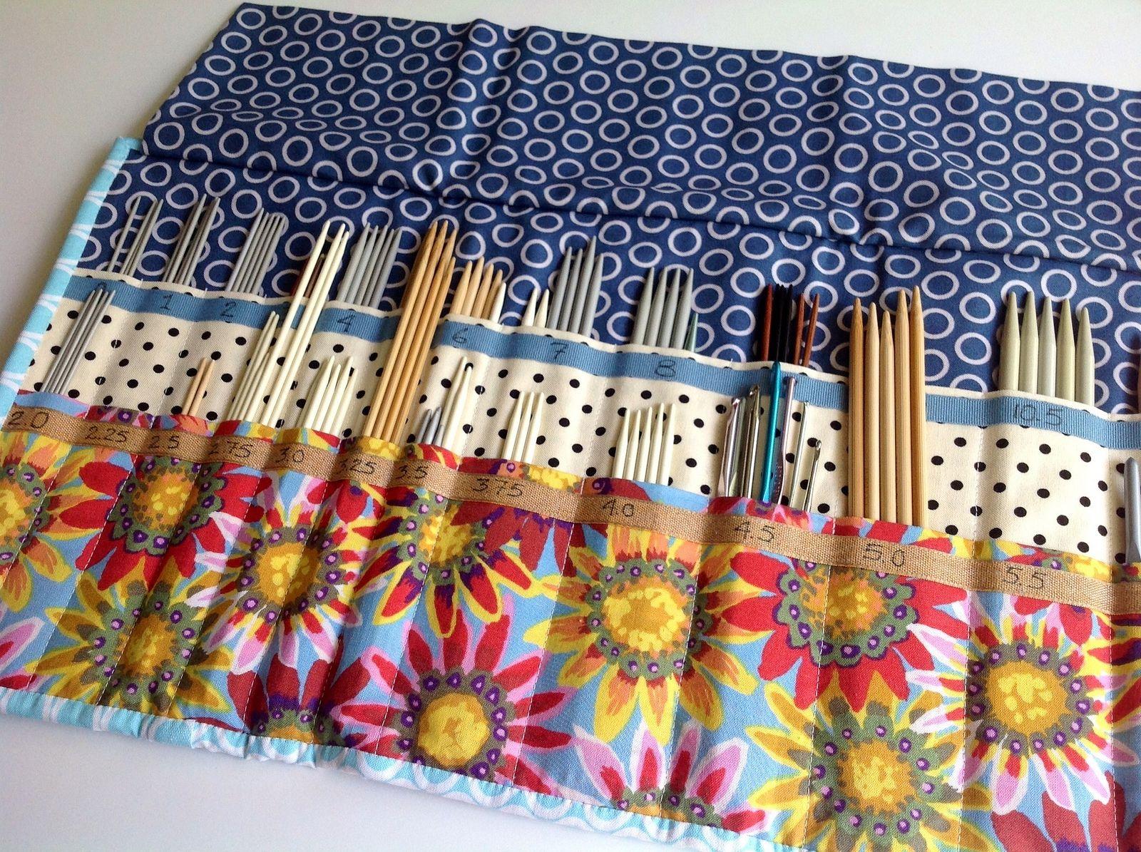 Inside double-pointed needle case | Knitting needle ...