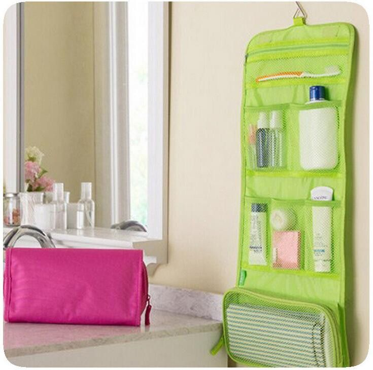 Foldable Cosmetic Case New Portable Hanging Organizer Makeup Bag Storage Traveling Toiletry Bags Wash Bathroom Accessories B359