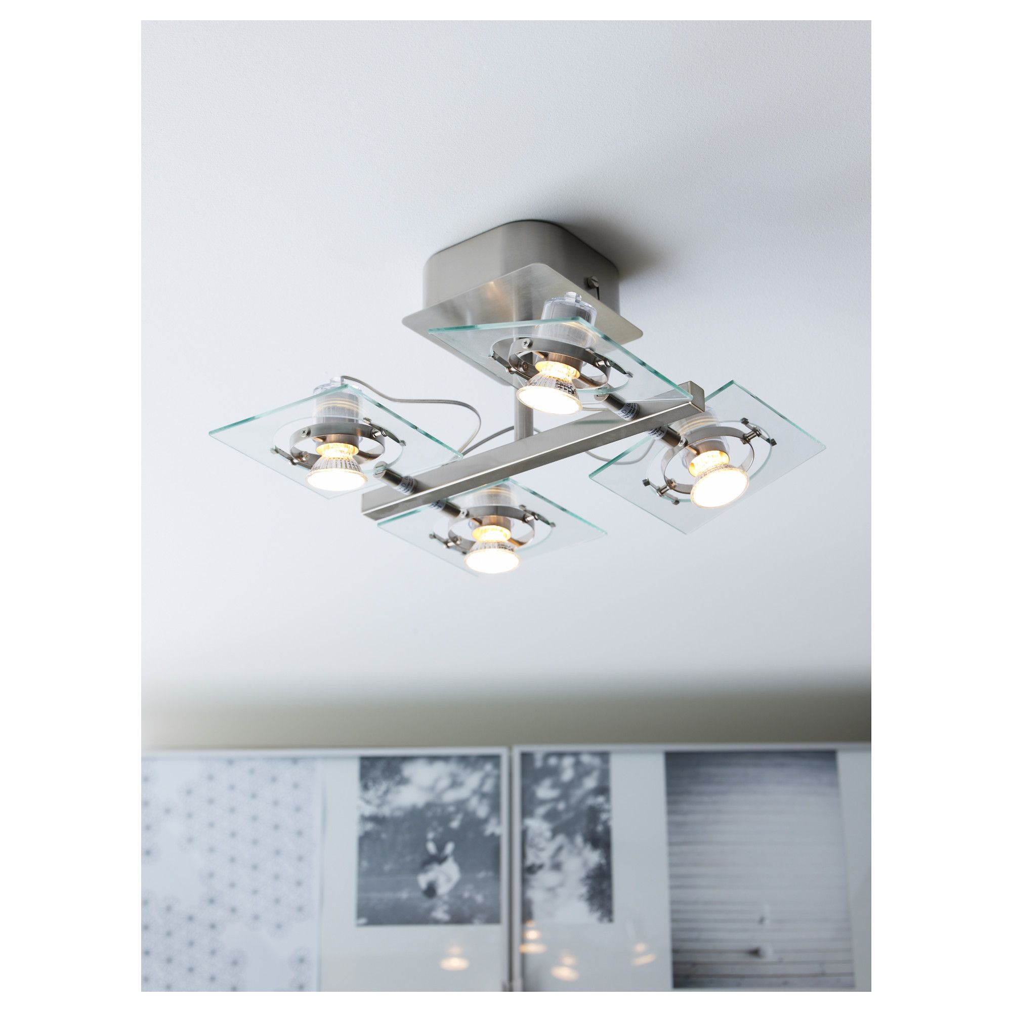 fuga ceiling spotlight with 4 spots glass