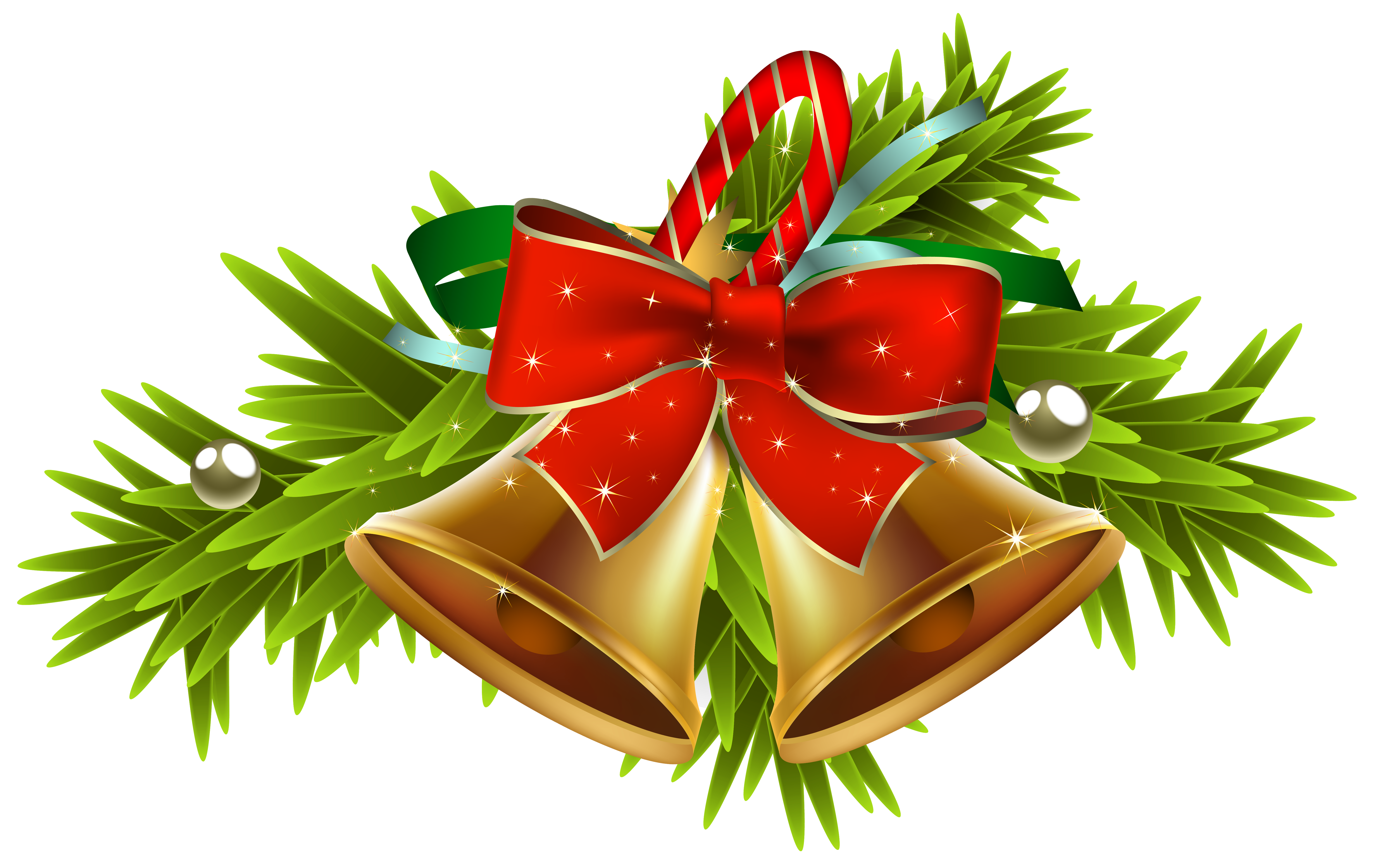 Christmas Golden Bells Decor PNG Clipart Image Gallery
