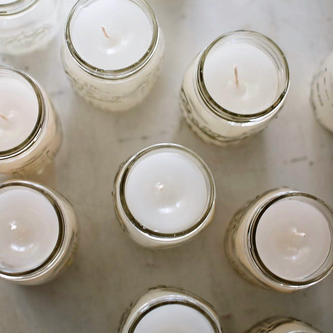 Homemade candles made from bees wax! Check out my Etsy
