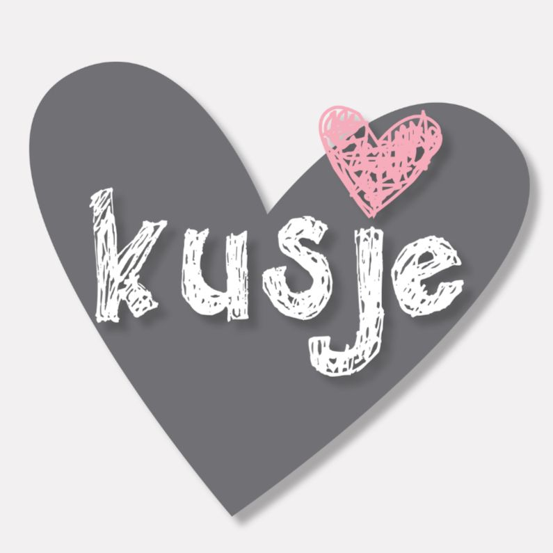 Grappige Citaten Liefde : Liefdekaart kusjegrijshart hart liefde en kusjes
