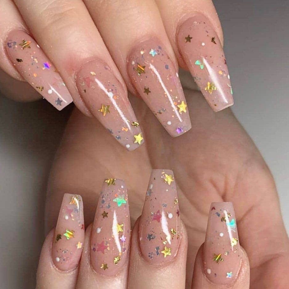 Super Star Simple And Cute By Yn Mentor Ditzadot Ynmentor Cover Peach Acrylic Dream Nails Best Acrylic Nails Pretty Acrylic Nails
