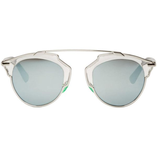 2ac5d60b59d6 Dior Silver So Real Sunglasses (620 CAD) ❤ liked on Polyvore featuring  accessories