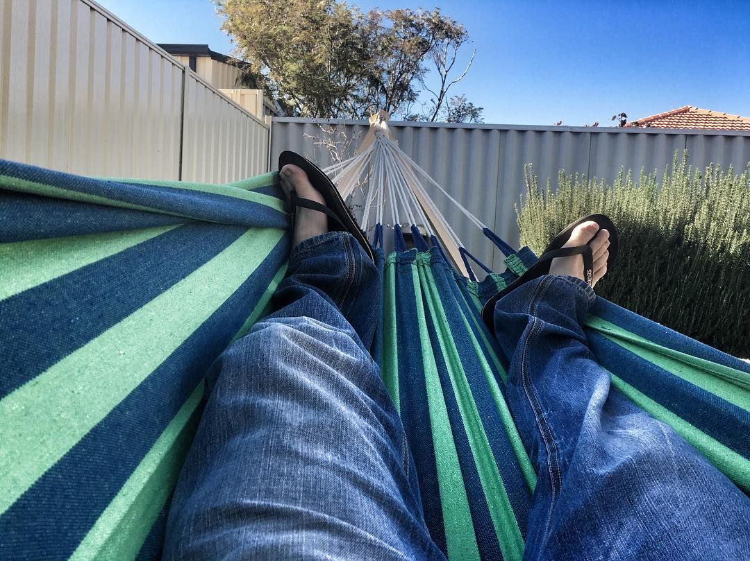 just relaxing in my hammock hammock hammocklife backyard