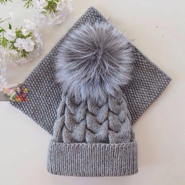 Одноклассники Комплект из шапки и снуда на осень. Пряжа ализе ланаголд - 2  мотка 11cdc51295a17