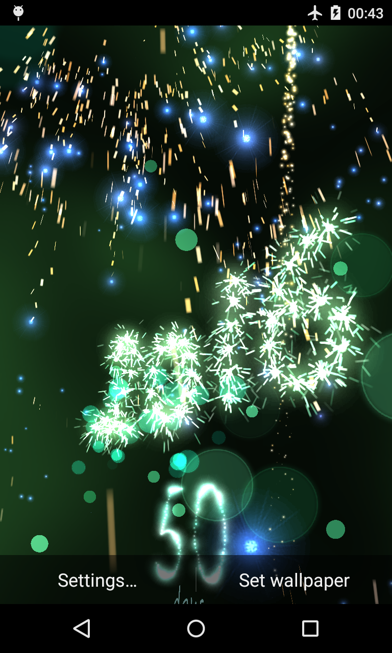New Year Countdown 2016 live wallpaper