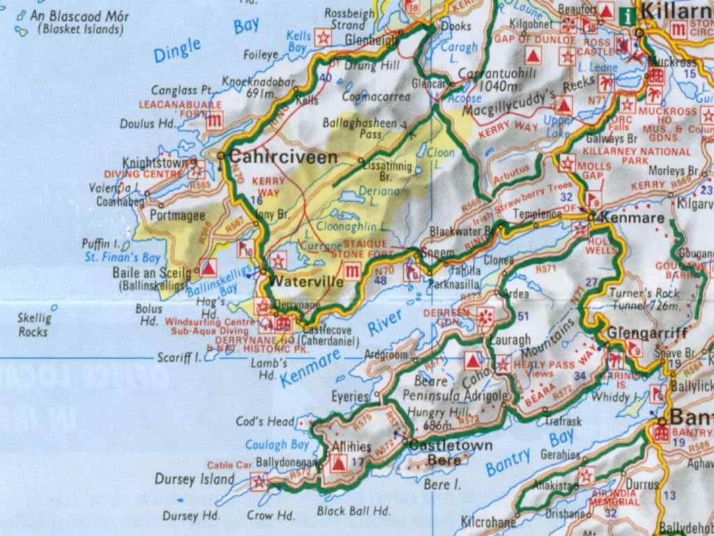 Map Of Ireland Kerry Region.Kerry Region Detailed Map Ireland Ireland Here I Come
