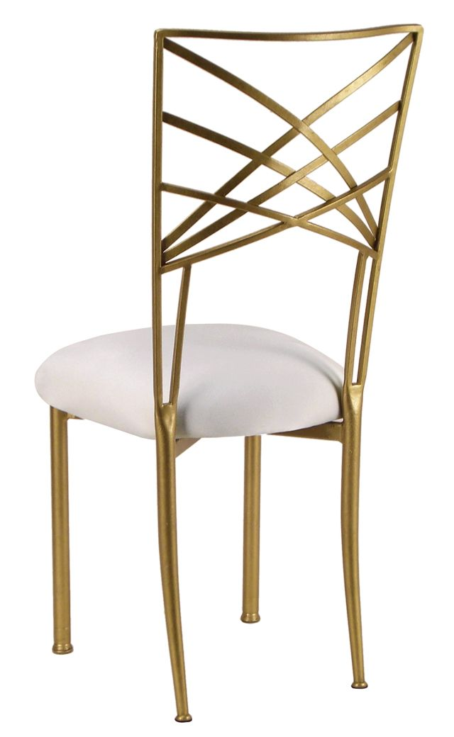 Gold Fanfare Chameleon Chair is a perfect accent to an art deco