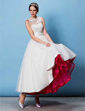 Wedding Special Occasion Party / Evening Slips Polyester Tulle Floor ...
