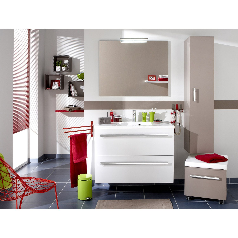 meuble sous vasque nà o blanc blanc n0 l90xh65 6xp48cm 2 tiroirs