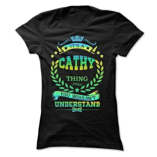 IT IS A CATHY THING  - #housewarming gift #gift girl. GET IT NOW => https://www.sunfrog.com/Names/IT-IS-A-CATHY-THING--Ladies.html?68278