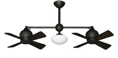 Metropolitan Modern Double Ceiling Fan In Weathered Brick With Light Remote Amazon Com For Ab Double Ceiling Fan Ceiling Fan With Light Modern Ceiling Fan