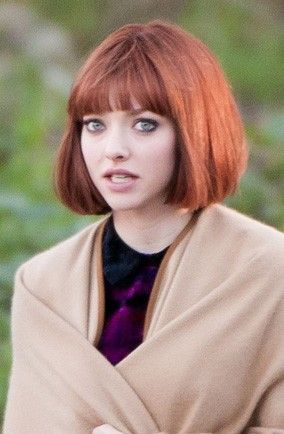 Is That Amanda Seyfried With A Short Red Bob Short Red