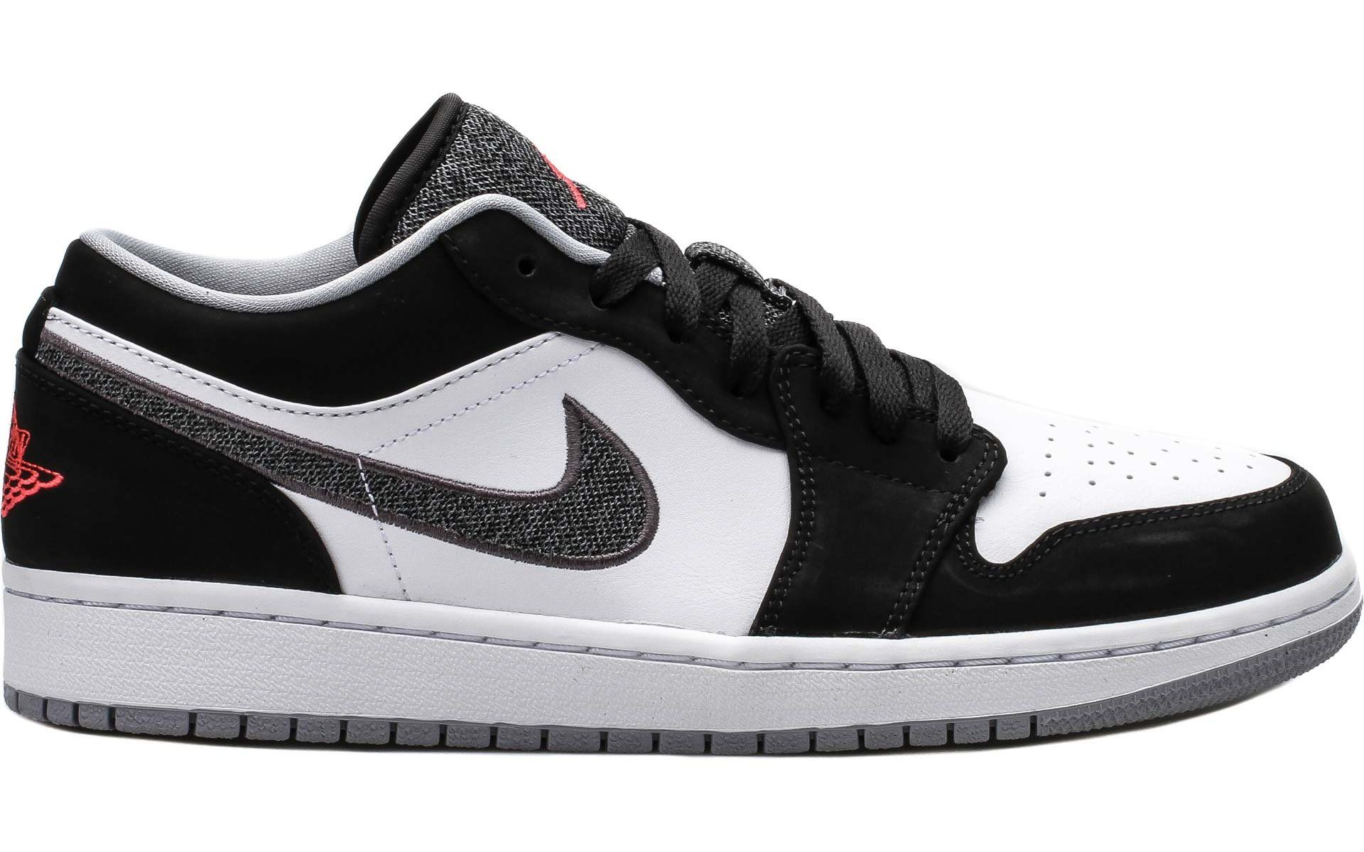 99c64a8a8c15e5 Air Jordan 1 Low Lifestyle - Black   Infrared 23-White-Grey - Air 23 ...