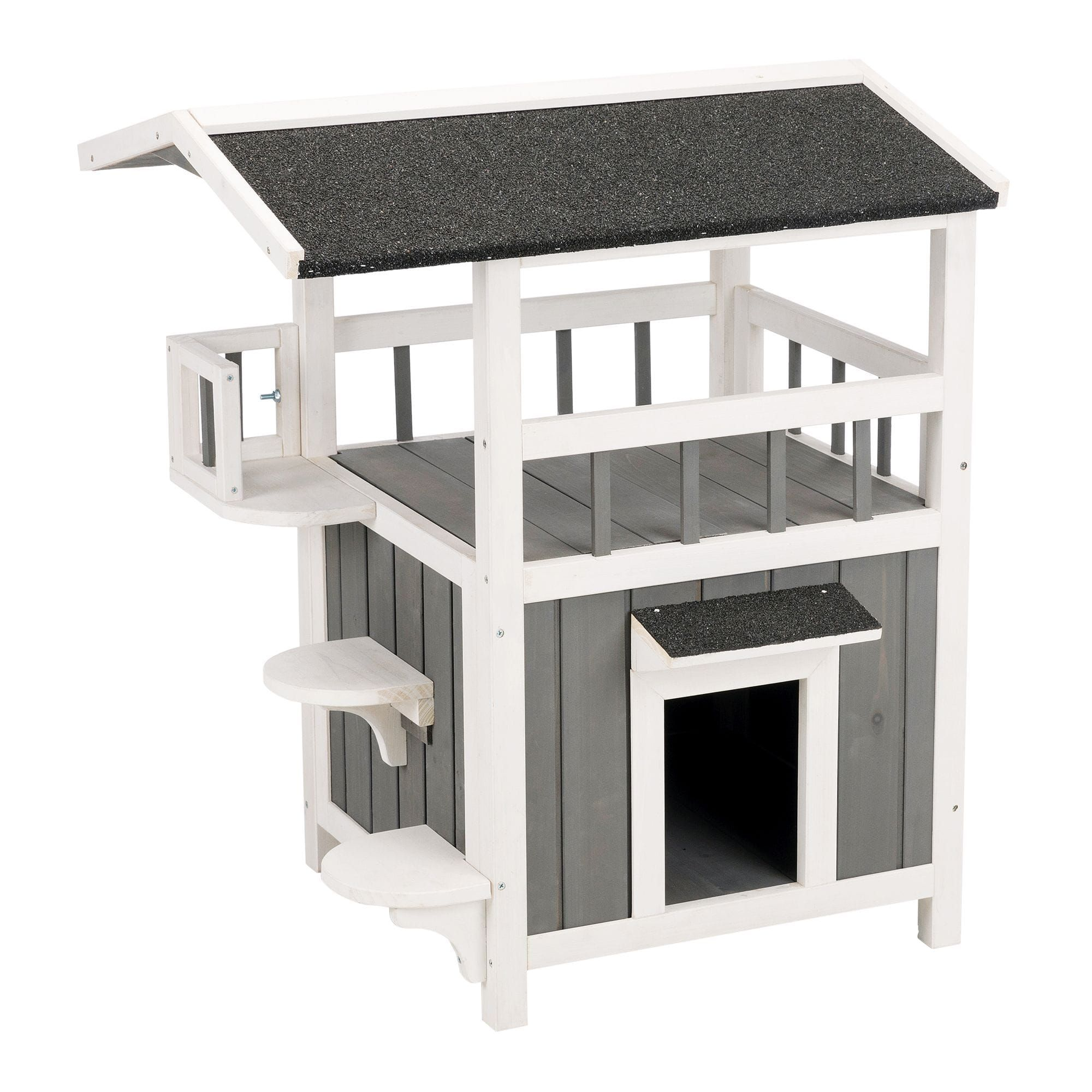 Trixie Natura Pet S Home With Shade Grey Cat Furniture 29 75 H Petco Wooden Cat House Outdoor Cat House Wooden Cat