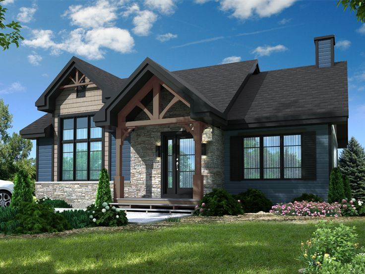 027h 0471 Empty Nester House Plan Drummond House Plans Craftsman House Plans Craftsman Style House Plans