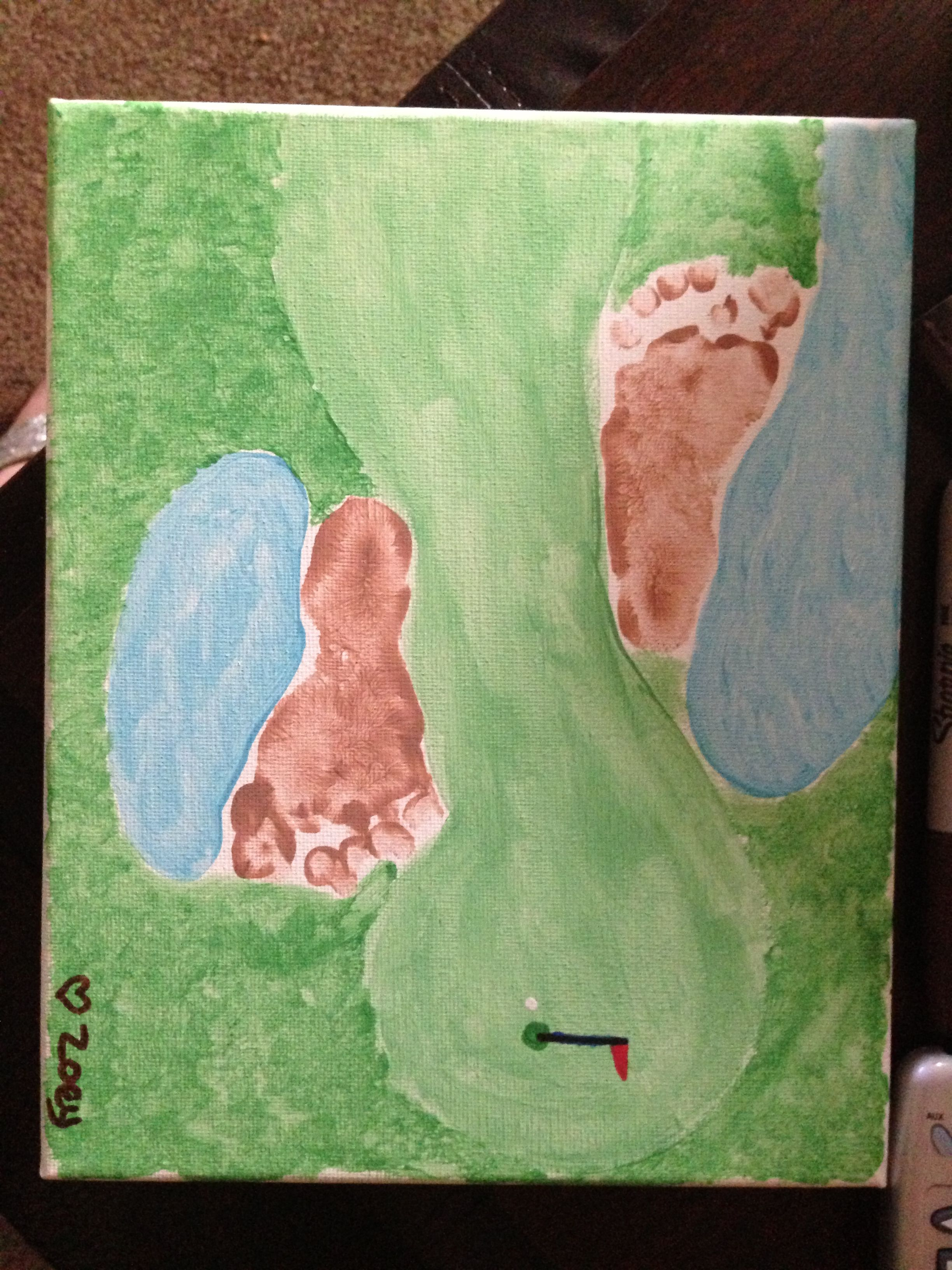 Golf Course Footprints For Father S Day Crafts