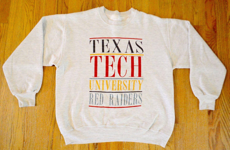 1980 S Texas Tech University Red Raiders Vintage Crewneck Etsy Vintage Crewneck Sweatshirt Vintage Crewneck Texas Tech [ 979 x 1500 Pixel ]
