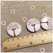 300ks 30 mm Veľké Drevo Buttons Tree Rytina Lacer Šitie Button Botones Vianoce Výzdoby Cardmaking Fórum (Čína (pevninská časť))