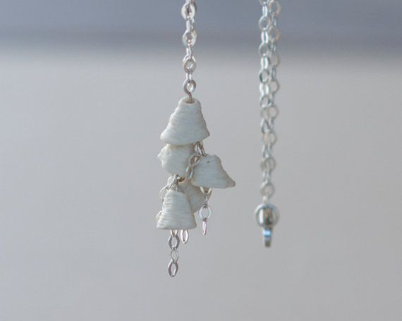 Bella - Porcelain and Silver Necklace. Designed and crafted by Wapa Studio., $59.00