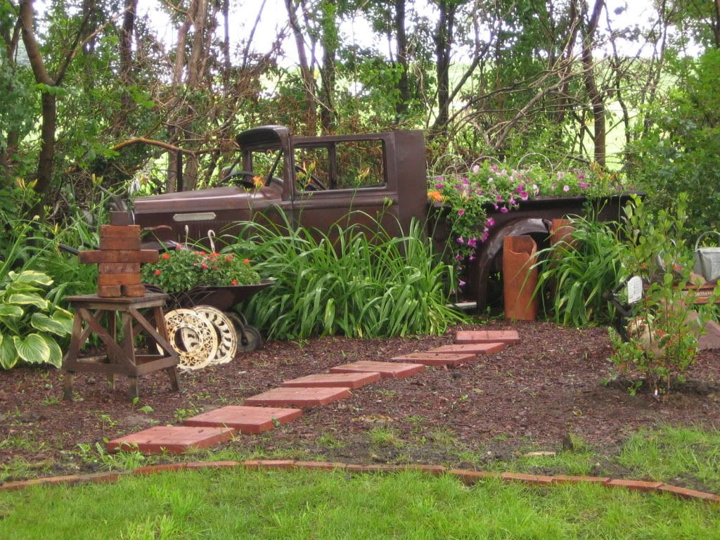 Old Pickup Truck As Planter. This Is What I Want To Do. Where Is