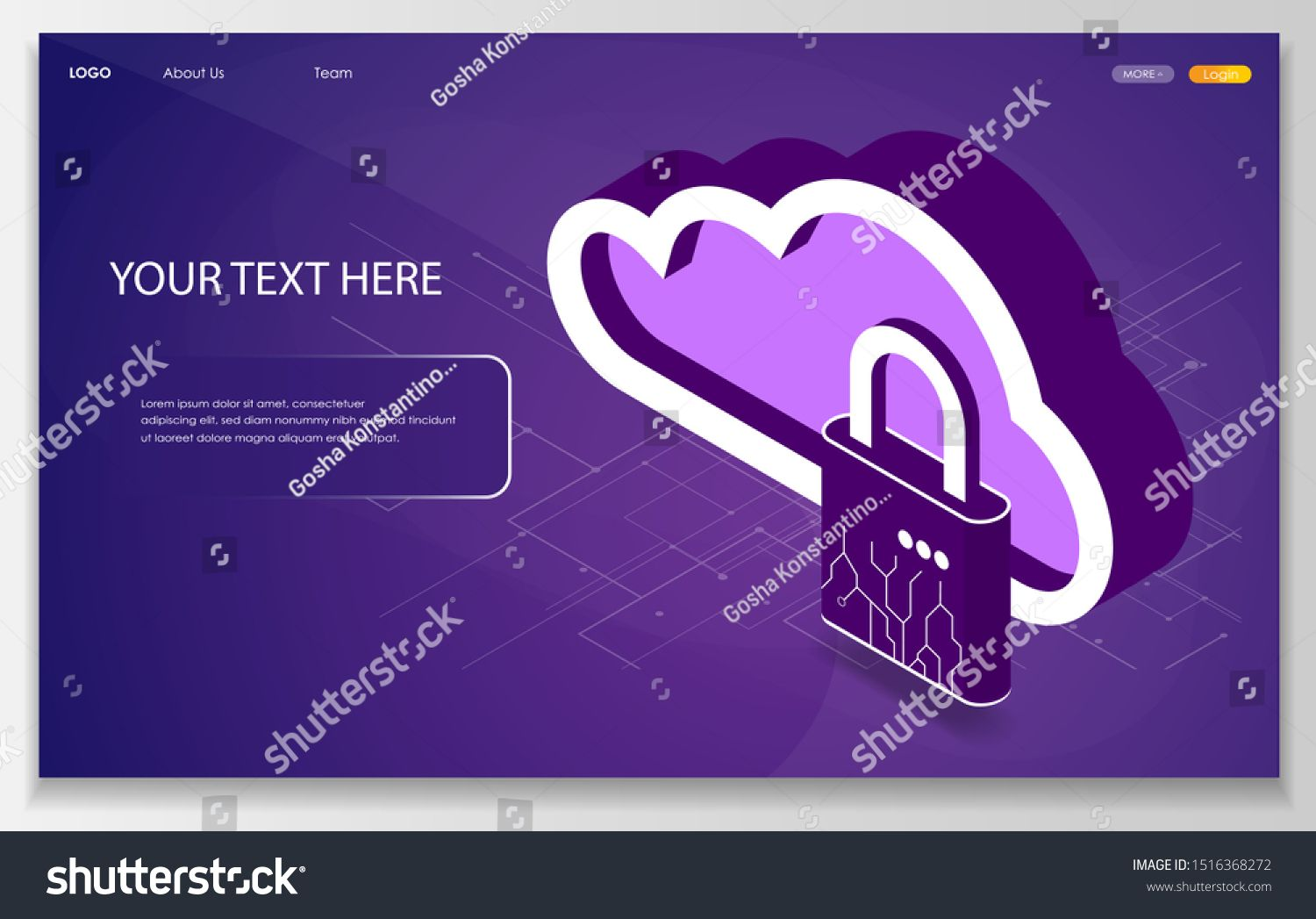 Cloud Data Protection Concept Isometric Cloud Icon Saved Internet Provider Backup Download Upload Isometric V Cloud Data Internet Providers Internet Network