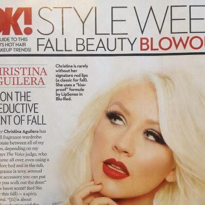 Blu Red by Lipsense is the favorite lipstick of Christina Aguilera.  Get yours at www.clearkiss.com